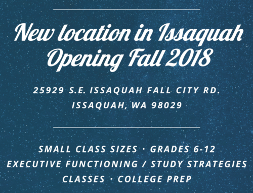 New location in Issaquah Opening Fall 2018